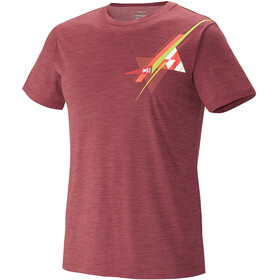 Millet M's Cloud Peak Wool T-Shirt Burgundy